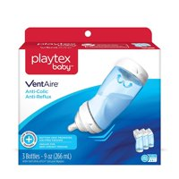 Playtex Baby VentAire Anti-Colic, for Air Free, Semi Upright Feeding, 9 oz Bottles, 3 Count
