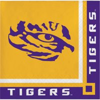 Louisiana State University Paper Beverage Napkins 20 Count for 10 Guests