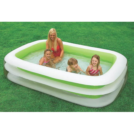 Pool swimming family vinyl best kiddie inflatable pools for Intex swim center family pool cover