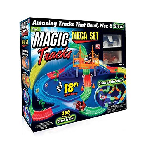 Magic Tracks Mega Set With 18ft Racetrack With 2 Race Cars As Seen