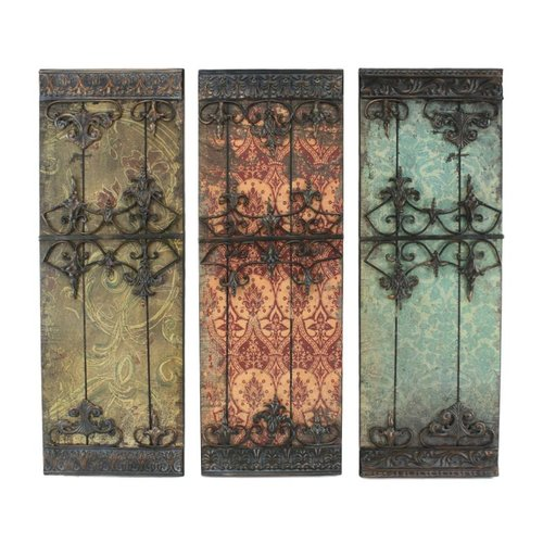 Aspire Home Accents 5745 Nadia Metal Wall Plaque (Set of 3)
