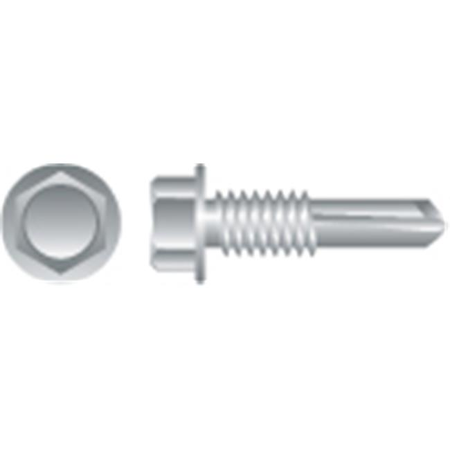 14-14 x 2 in. Unslotted Indented Hex Washer Head Screws  Zinc Plated  Box of 1 500 - image 1 of 1