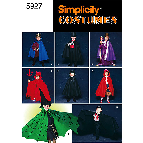 Simplicity Patterns Child's Cape and Accessories, S-L