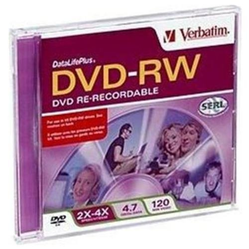 Verbatim DVD-RW 4.7GB 4x Branded Slim Case