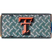 Texas Tech Diamond Embossed License Plate