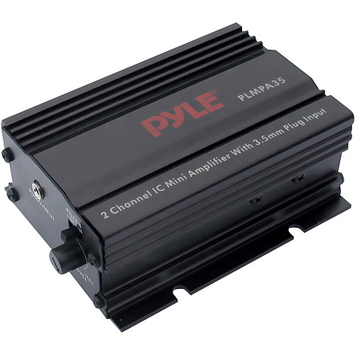 Pyle PLMPA35 2 Channel 300 Watt Mini Amp 3.5mm Input