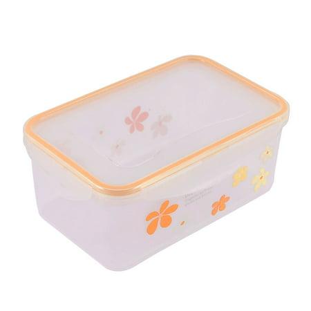 Unique Bargains Kitchenware Plastic Floral Pattern Food Storage Box Container Case Orange Clear - Unique Halloween Food Ideas