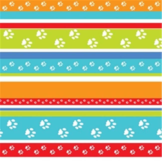 Pet Party Printz BIR00205 Party Stripes Gift Wrap - Pack of 4 Rolls