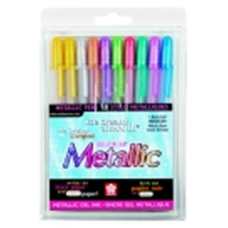 Sakura Gelly Roll Non-Toxic Waterproof Pen Set - 0.4 mm. Medium Tip, Assorted Metallic Color, Set - 10 - Sakura Gelly Roll