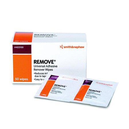 Smith & Nephew Remove Adhesive Remover Wipes  Box of 50, 10 Pack (500 Total)