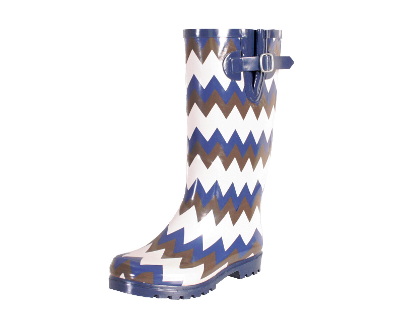 Nomad Navy White Brown Chevron Rain Boot by Nomad