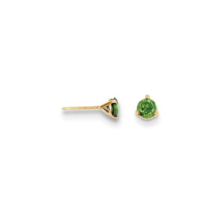 14kt Yellow Gold .40ct. Green Diamond Stud Ball Button Earrings Gemstone Fine Jewelry Ideal Gifts For Women Gift Set From - White Gold Diamond Ball