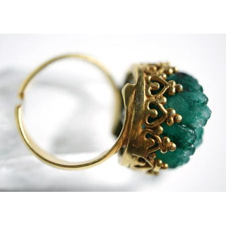 LAMINATED POSTER Golden Drusy Stones Gold Druzy Ring Quartz Green Poster Print 24 x 36