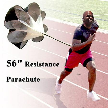 "56"" Running Resistance Parachute Speed Training Chute Power for up to 42"" waist"