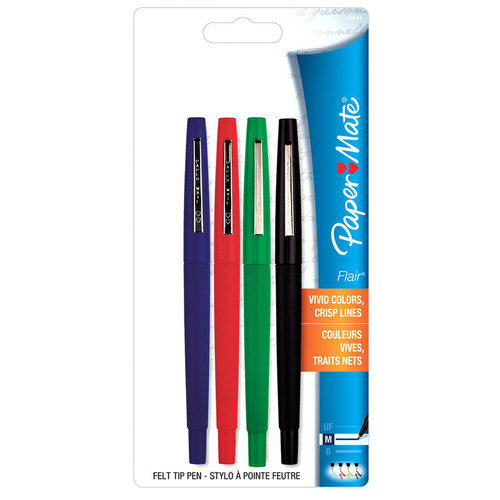 Sanford Corporation 4 Count Flair Felt Tip Pens  8404452PP