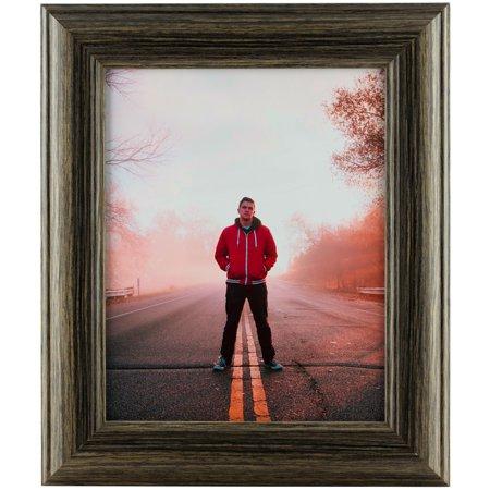 Craig Frames Dakota N, Black Tan Oak Picture Frame, 10x13 Inch