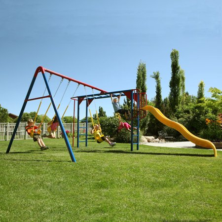 Lifetime Monkey Bar Adventure Metal Swing Set Walmart Com