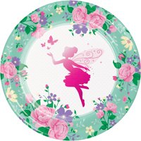 Floral Fairy Sparkle Dinner Plates