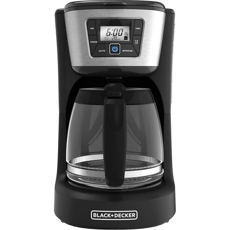 Black & Decker 12-Cup Programmable Coffeemaker, Black Stainless Steel, CM2030B by Black Decker