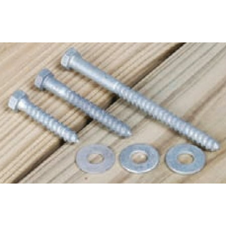 Tie Down Engineering Dock Hardware Hot Dipped Galvanized Lag Bolt Set, 8  Per Bag
