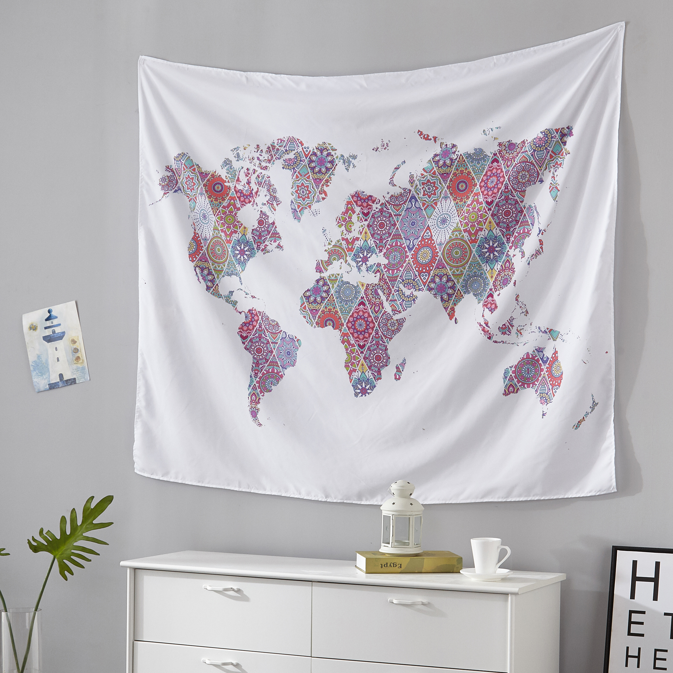 Mainstays Global Pattern Tapestry 50 x 60 in by Idea Nuova