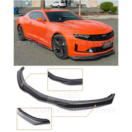 For 2019-Present Camaro LT / LS / RS / SS | EOS T6 Style Front Bumper Lower Lip Splitter (ABS Plastic - Primer Black)