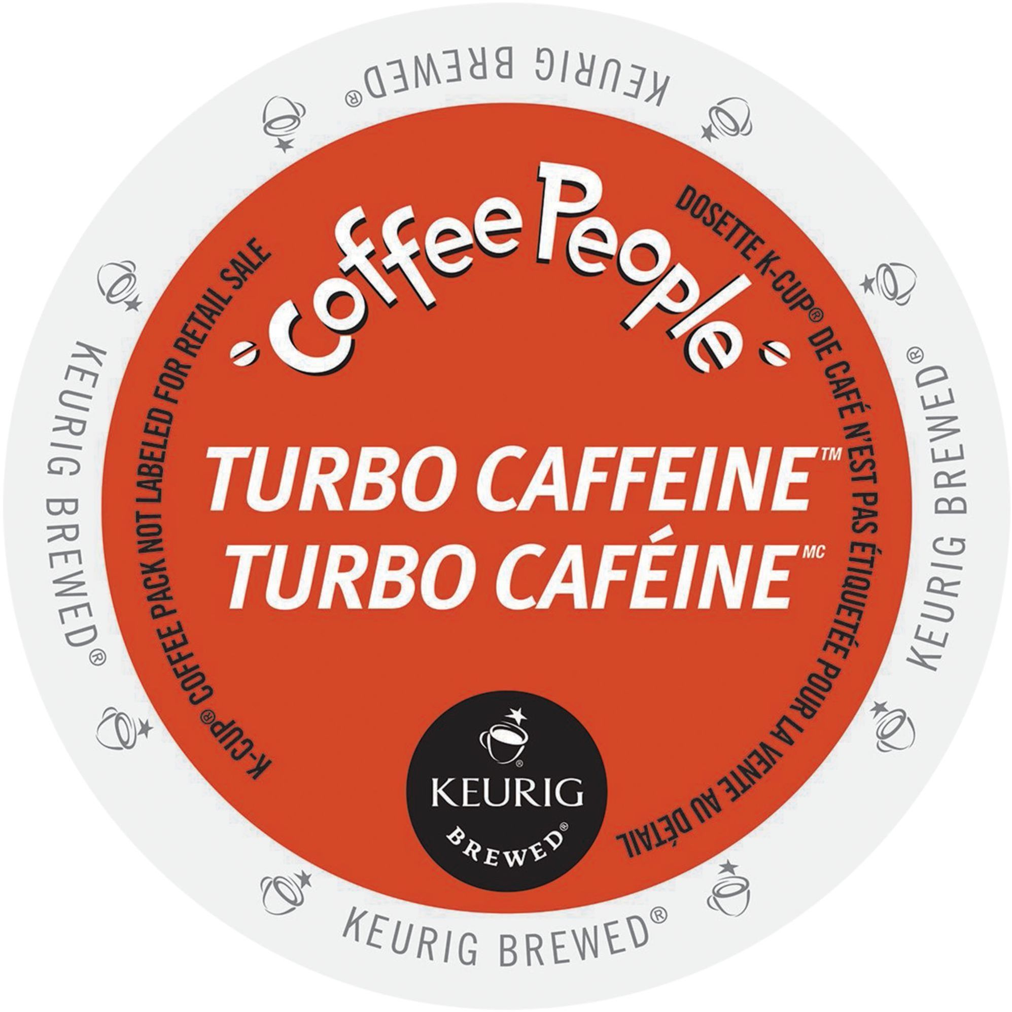 Coffee People Turbo Caffeine, K-Cup Portion Pack for Keurig Brewers (24 Count)