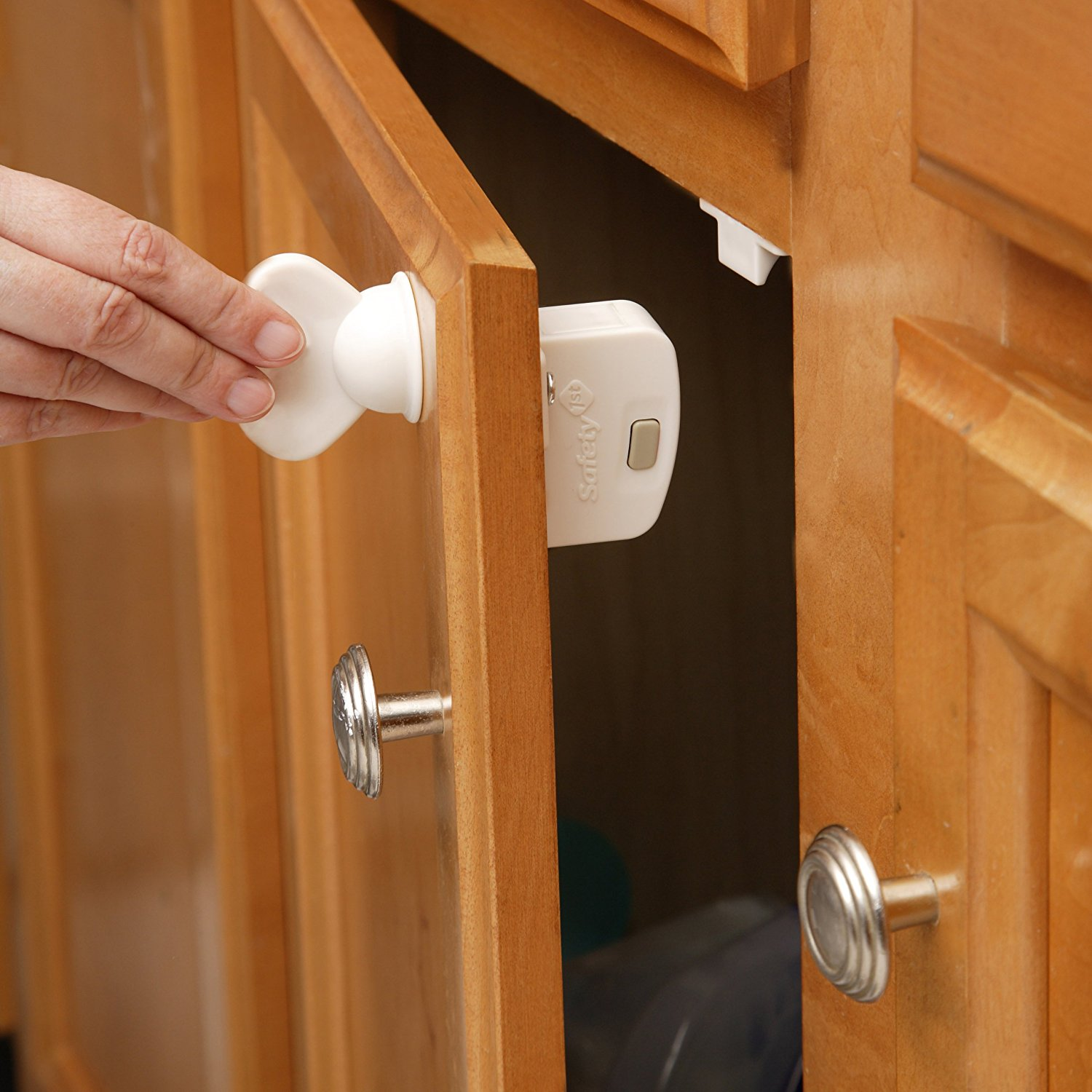 Magnetic Cabinet Locks, 8 Locks + 1 Key, Only unlocks with powerful Magnetic key By Safety 1st Ship from US by Safety 1st