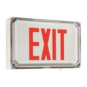 HUBBELL LIGHTING - DUAL-LITE HUBBELL LIGHTING DUALLITE LED Exit Sign/ Battery Backup, SEWLSRWE-4X