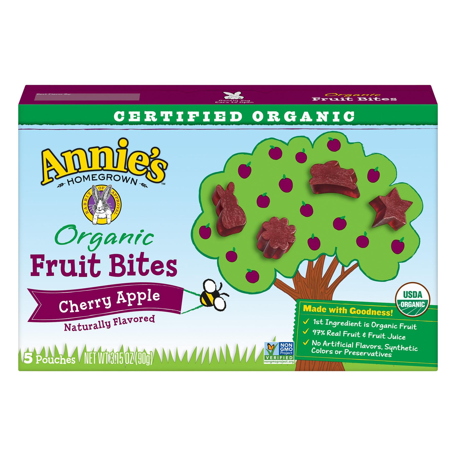 Annie's Organic Cherry Apple Fruit Bites, 5 ct, 3.15 oz