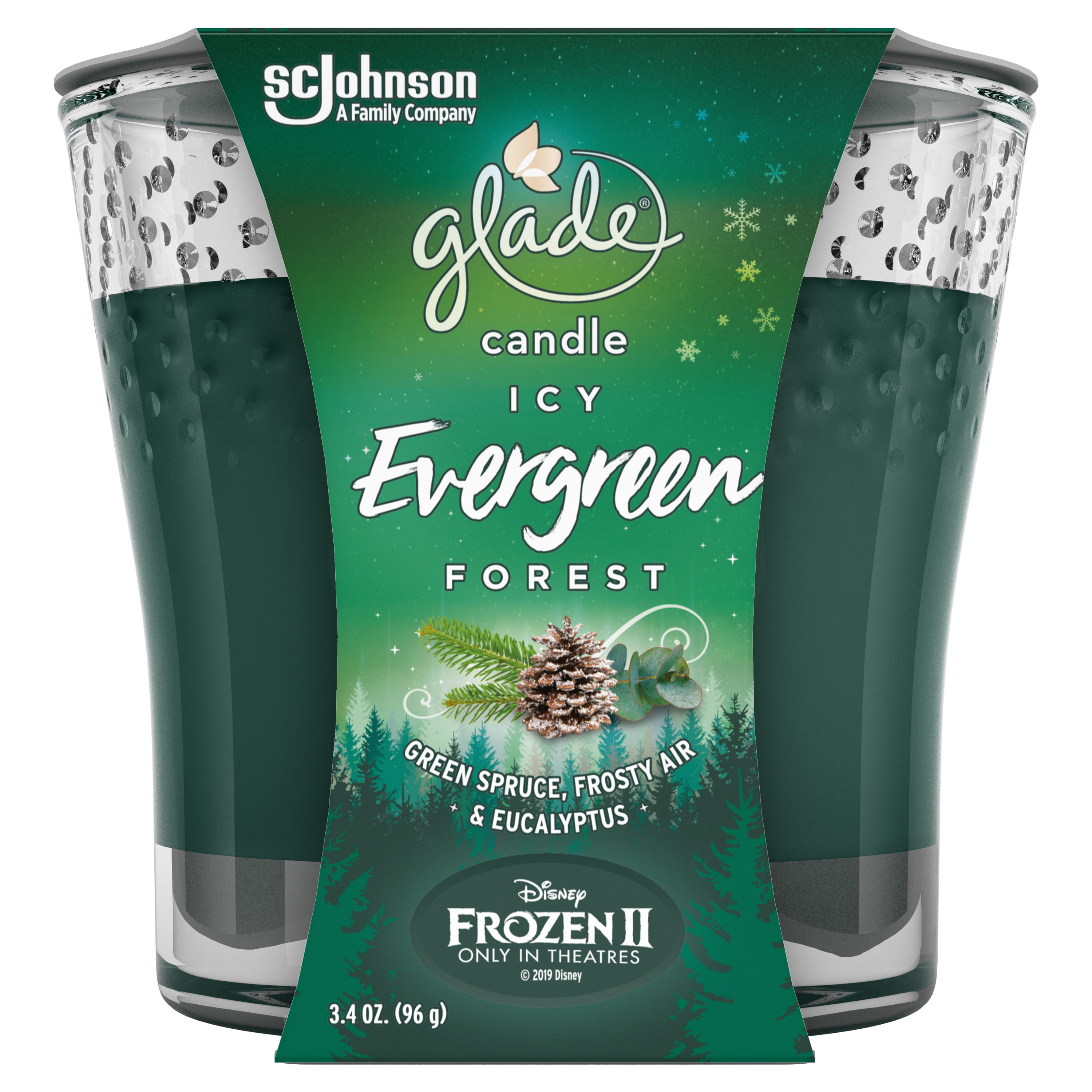 Glade Jar Candle Air Freshener 1 CT, Icy Evergreen Forest ...