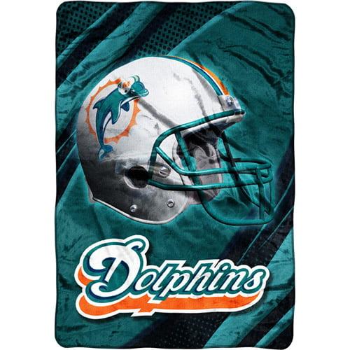 NFL Miami Dolphins Micro Raschel Blanket