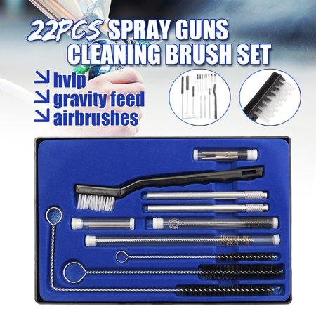 22Pcs/Set Airbrush Spray Nozzle Cleaning Brush Repair Tool Kit Needle & Brush Set Cleaner - image 12 de 12