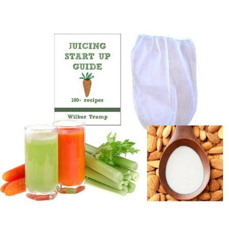 Nut Milk Pulp Strainer Bag XL (1 gal) + Juicing Recipe Sprouting eBook