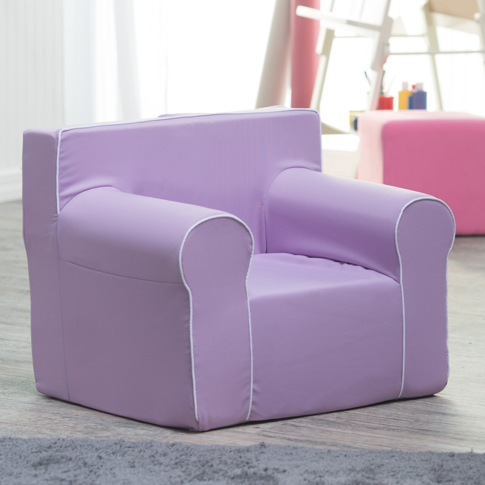 Fun Furnishings Here and There Kids Chair - Lavender Canv...