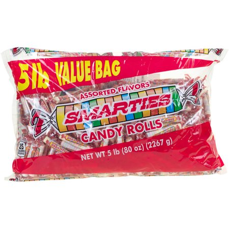 Smarties Assorted Flavors Candy Rolls, 5 lbs