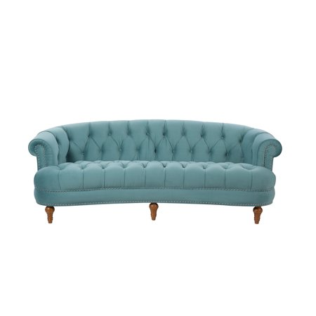 La Rosa Chesterfield Sofa Tufted, Arctic Blue