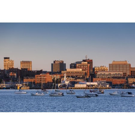 USA, Maine, skyline from South Portland at dawn Print Wall Art By Walter (Maine Mall South Portland)