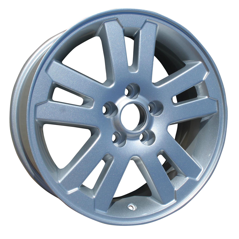 2006-2010 Ford Explorer  17x7.5 Aluminum Alloy Wheel, Rim Sparkle Silver Full Face Painted - 3639