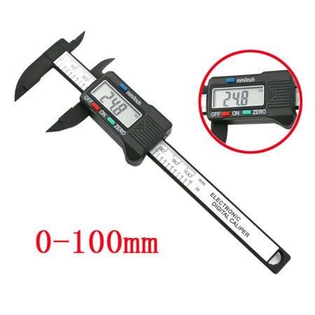 DZT1968 100mm/4inch LCD Digital Electronic Carbon Fiber Vernier Caliper Gauge
