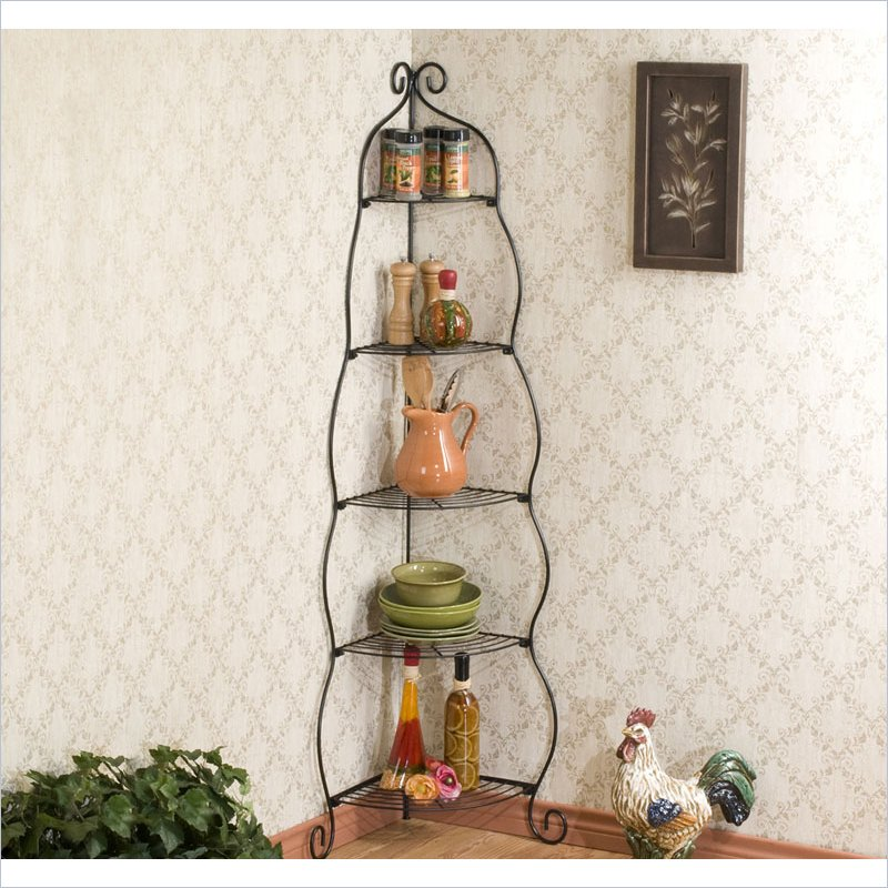 Holly & Martin Corner Etagere in Black by Holly & Martin