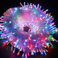 Christmas String Lights 22M/72ft 200 LEDs Indoor String Lights with 8 Flash Changing Modes, 29V Safety Outdoor Waterproof Plug-in Fairy Twinkle Lights for Halloween/Garden/Party/Festive (Multi Color)