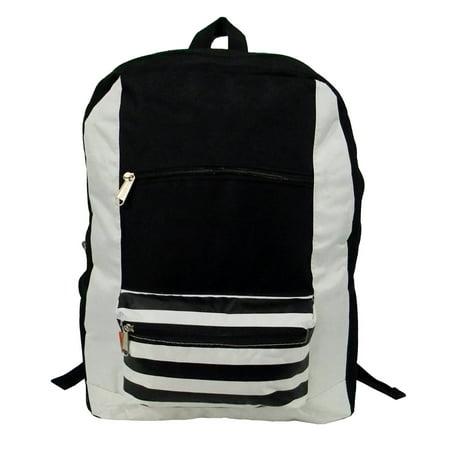 d4ec467d2054 Wholesale Classic Backpack 18 inch Stripe Printed Basic Bookbag Bulk Cheap  Case Lot 40pcs Simple Schoolbag Promotional Backpacks Low Price Non Profit  ...