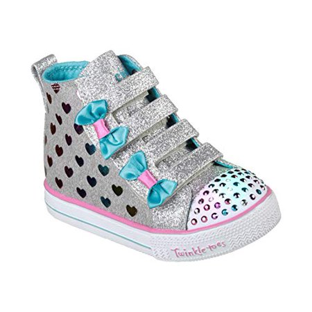Skechers Girls' Twinkle Toes Light-Up Hi-Top Sneakers (Sizes 6 -