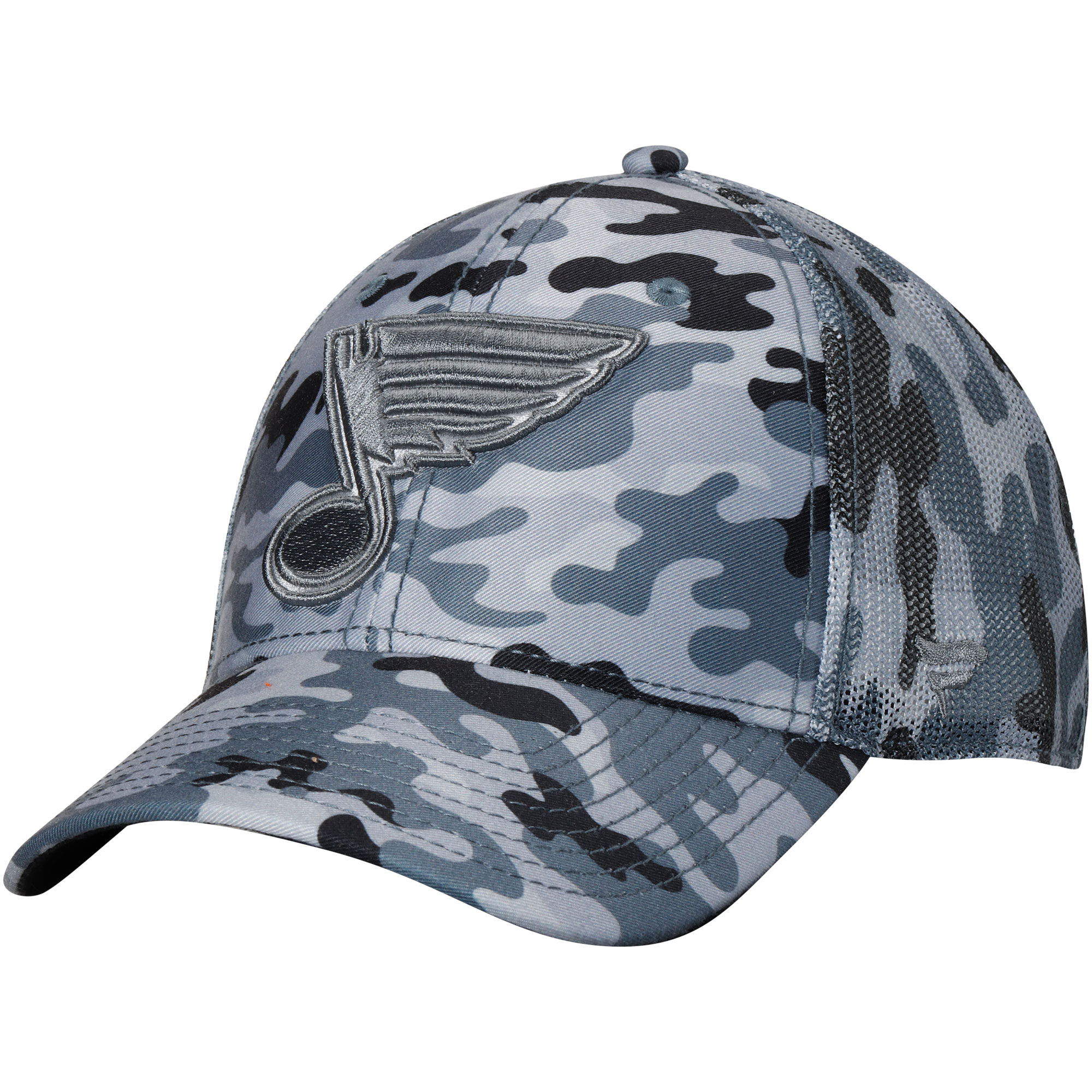 St. Louis Blues Fanatics Branded Urban Trucker Adjustable Hat - Camo/Gray - OSFA