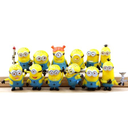 Minions Characters Names (Minion Six Piece Set Action Figures Toy Funny Animated Cartoon Characters)