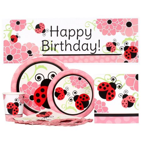 Ladybug Birthday Party Value Kit for up to 16 Guests (Birthday Direct Coupon)