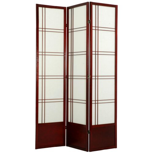 Oriental Furniture Double Cross Shoji Screen Room Divider - 78 inch