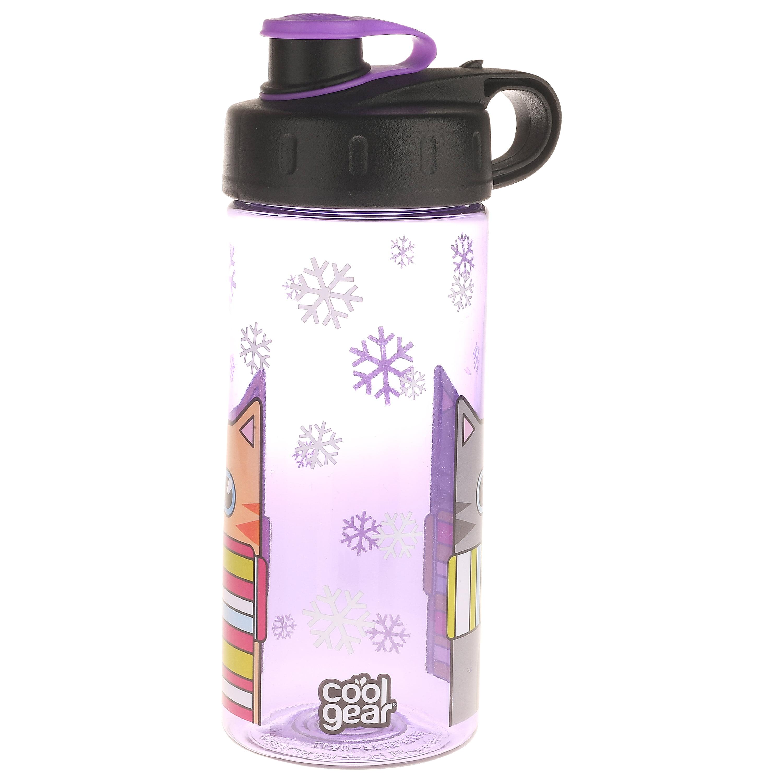 Cool Gear, Winter Cats with Scarves, 16 Fl oz Flip Top Beverage Bottle