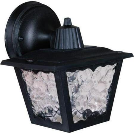 Poly Perch - Outdoor Porch Lantern, Black Poly Housing, Acrylic Flemish Lens